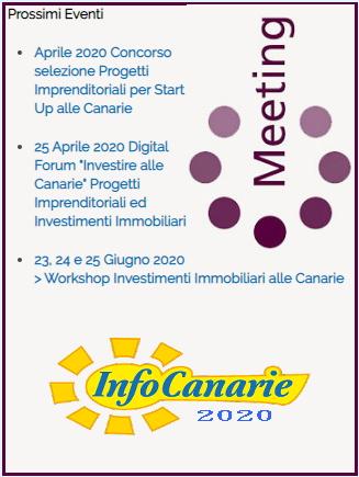 """InfoCanarie"" Aprile 2020 > Eventi ed iniziative"